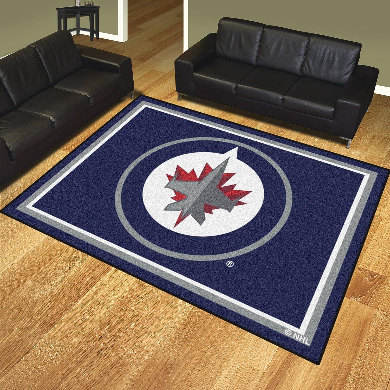 Winnipeg Jets 8 X 10 Decor Area Rug
