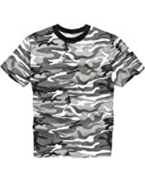 100% Cotton Military Style T-shirt - Urban Camouflage