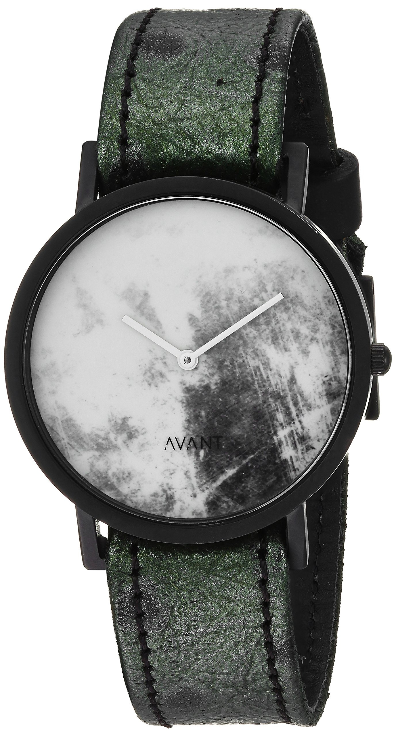 South Lane 'DIFFUSE' Swiss Quartz Stainless Steel and Leather Casual Watch, Color:Green (Model: 38-invert-2) by South Lane
