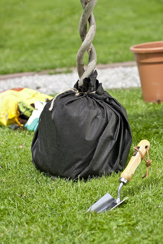 Windhager Trennvlies f/ür Topfpflanzen auch f/ür gr/ö/ßere K/übelpflanzen 200 x 100 x 0.1 cm schwarz 60g//m/²
