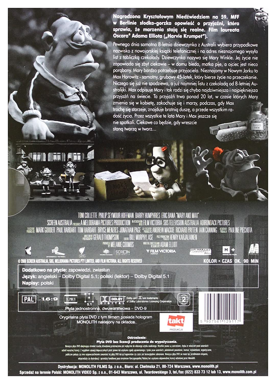 Amazon Com Mary Max Dvd English Audio Movies Tv