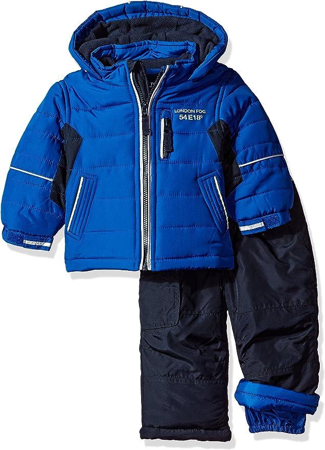 LONDON FOG Baby-Boys 2-Piece Snow Pant /& Jacket Snowsuit Snowsuit