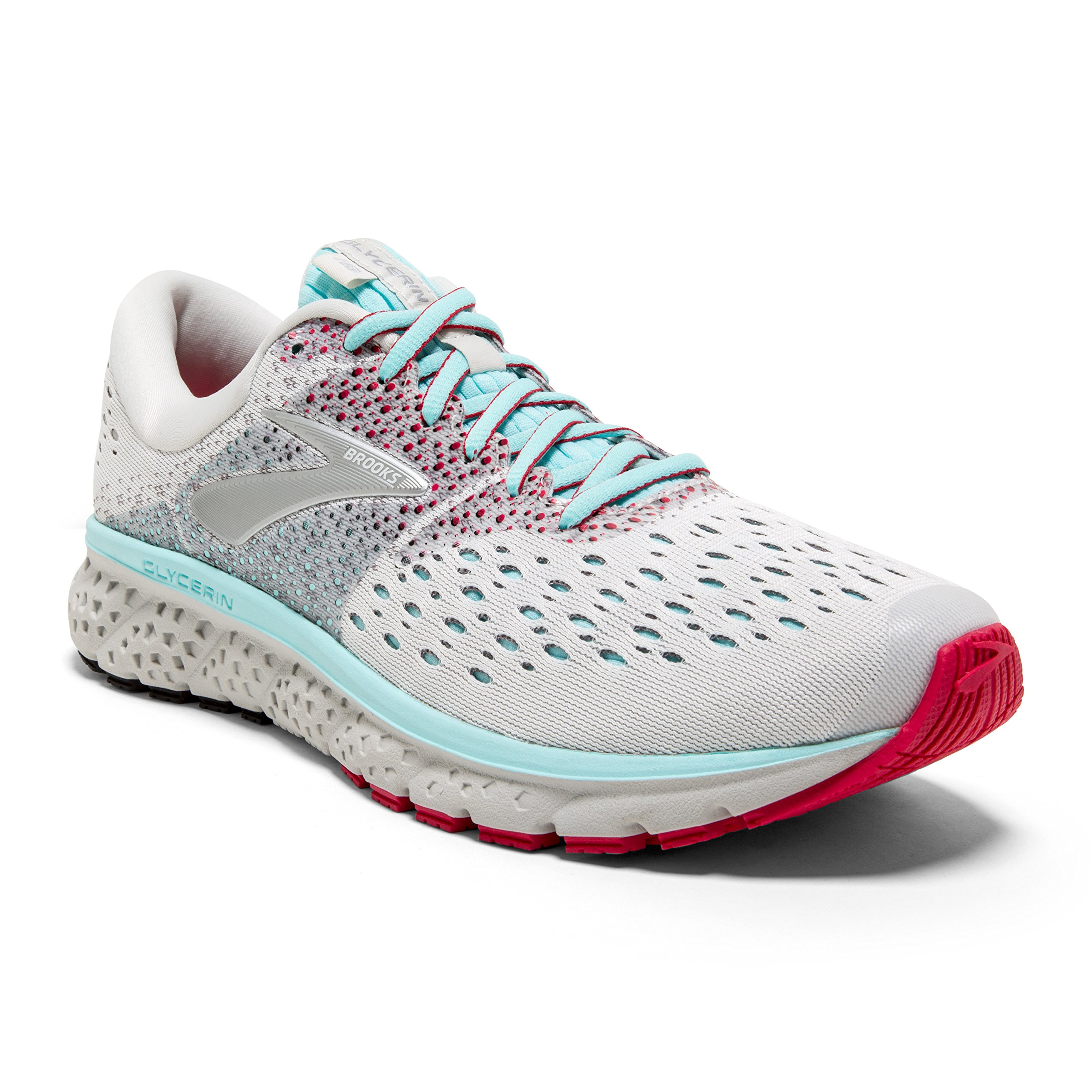 Brooks Womens Glycerin 16 - White/Blue/Pink - B - 12.0 by Brooks