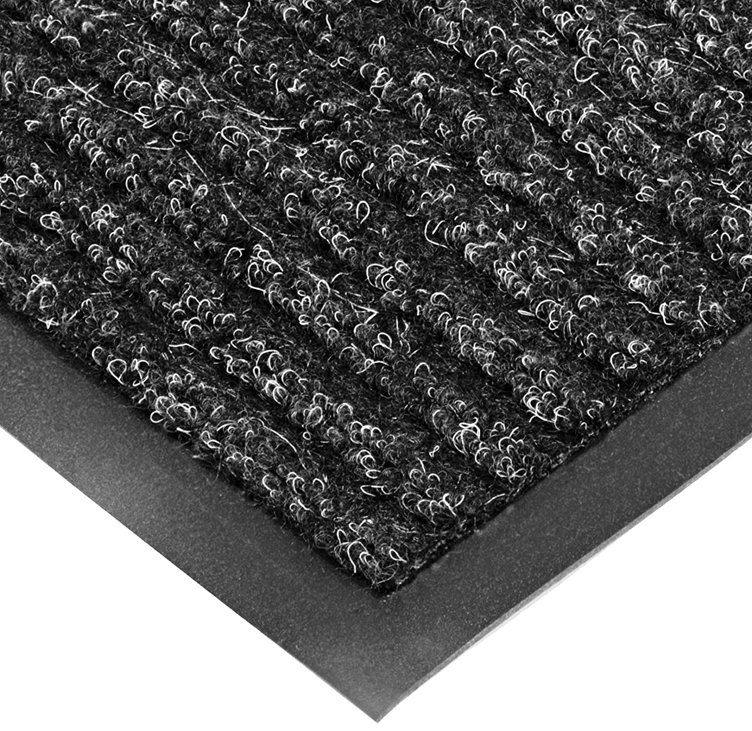 NoTrax T39 Bristol Ridge Scraper Carpet Mat, for Wet and Dry Areas, 3' Width x 6' Length x 3/8 Thickness, Midnight Superior Manufacturing Group Inc T39S0036CH