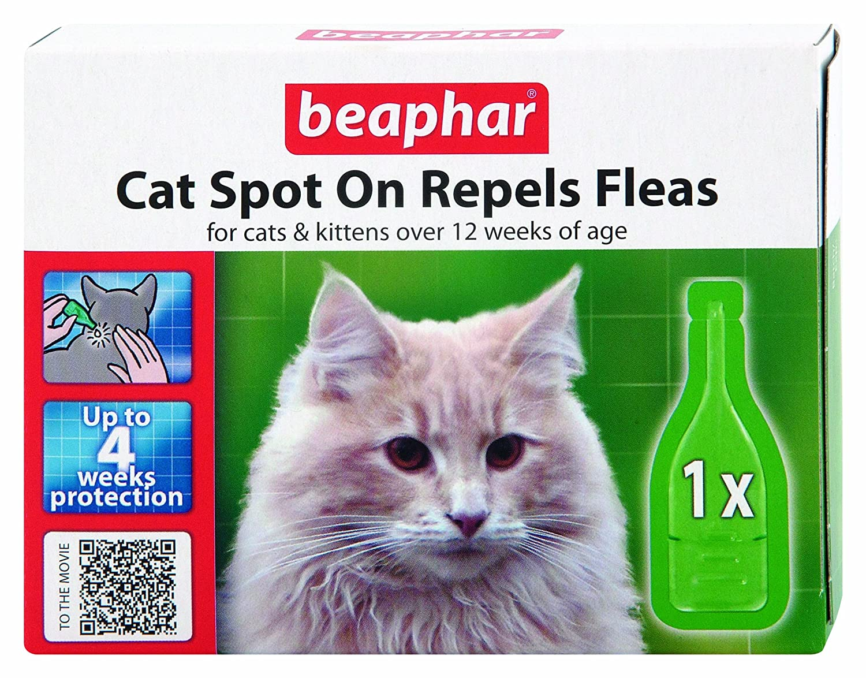 (2 Pack) Beaphar - Cat Flea Spot On-12 Weeks Protection
