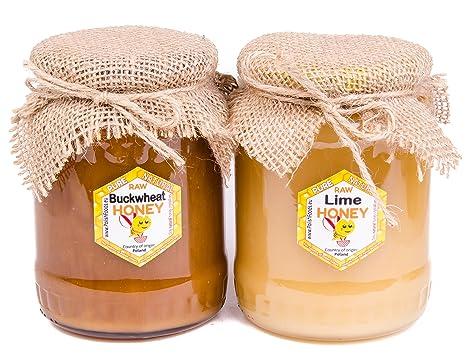 Miel de trigo sarraceno + miel de tilo con Polaco. 2 pack ...
