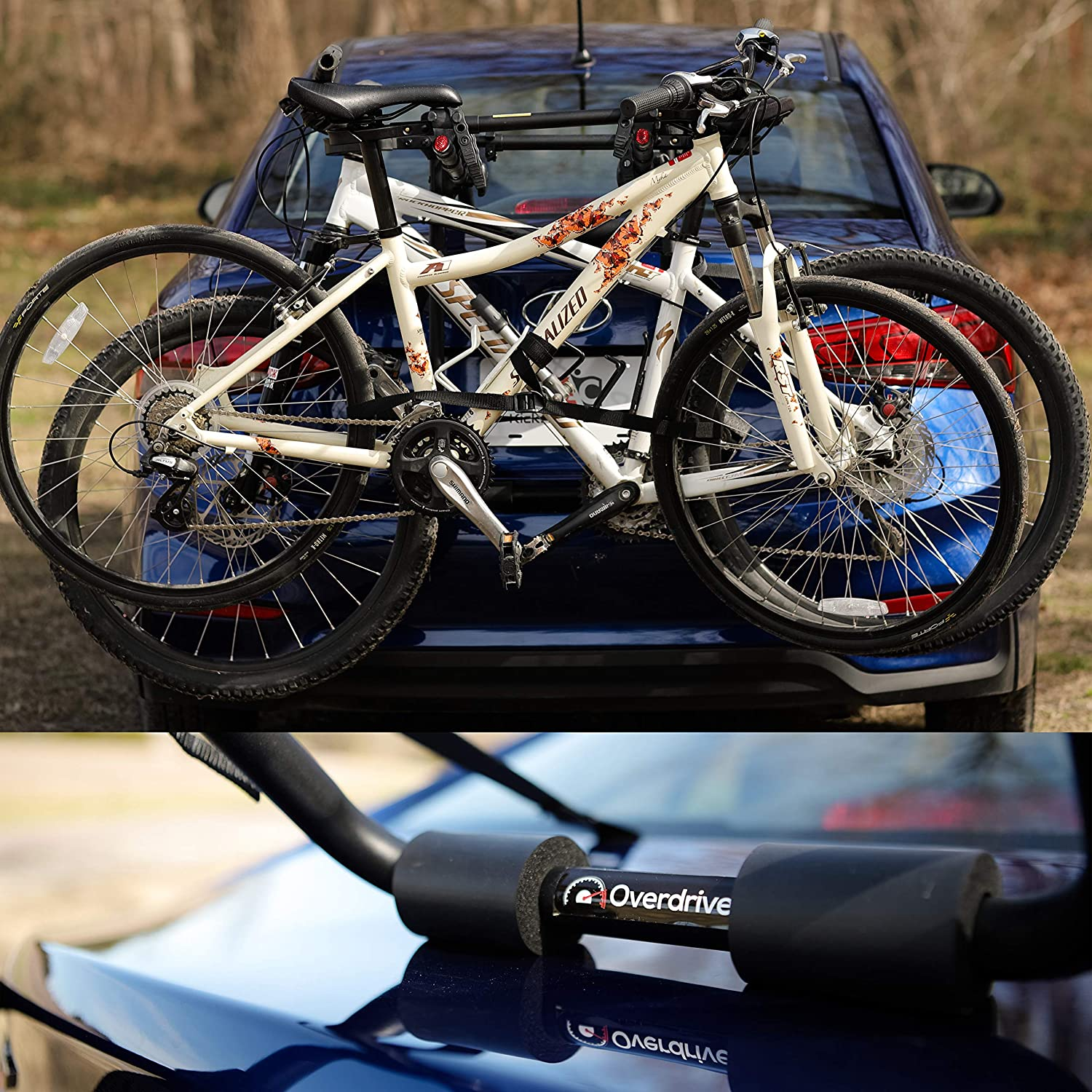 Overdrive Highly Versatile Sport 3-Bike Trunk Mounted Bicycle Carrier Rack