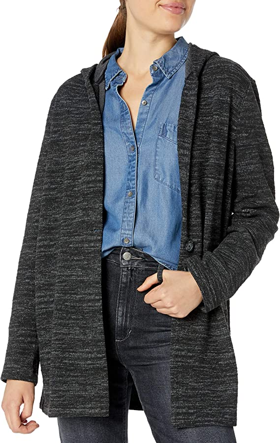 Lucky Brand Women's Hooded Button Jacket