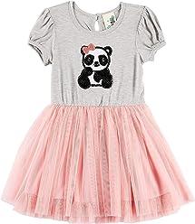 e5bdc84479d9 Lily Bleu Toddler Girls Sequined Panda Tutu Dress