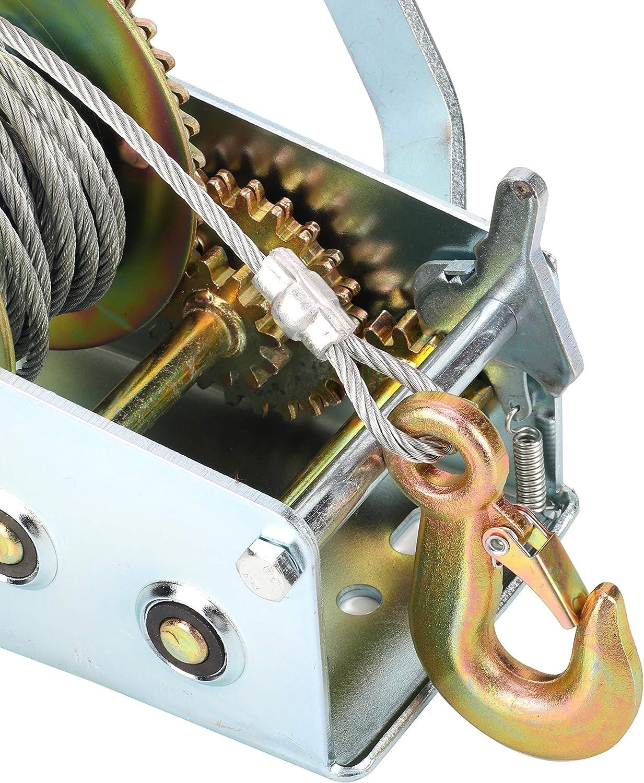 Tools & Home Improvement tonchean Hand Winch 2500LBS Heavy Duty ...