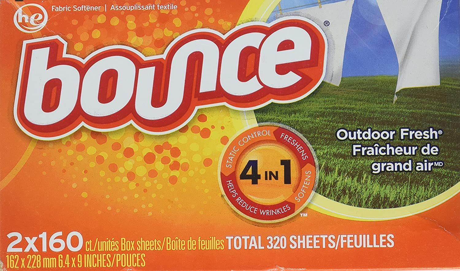Bounce Dryer Sheets (320 Sheets), 320Count