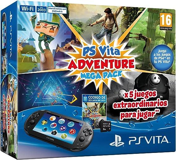 PlayStation Vita - Consola + Mega Pack Adventure + MC 8 Gb: Amazon.es: Videojuegos