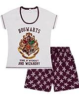 Universal Studios Hogwarts Harry Potter Short Ladies Womens Adult Pajamas Pjs
