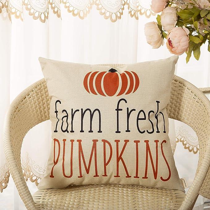 Amazon.com: Fahrendom Fall Farmhouse - Funda de almohada ...
