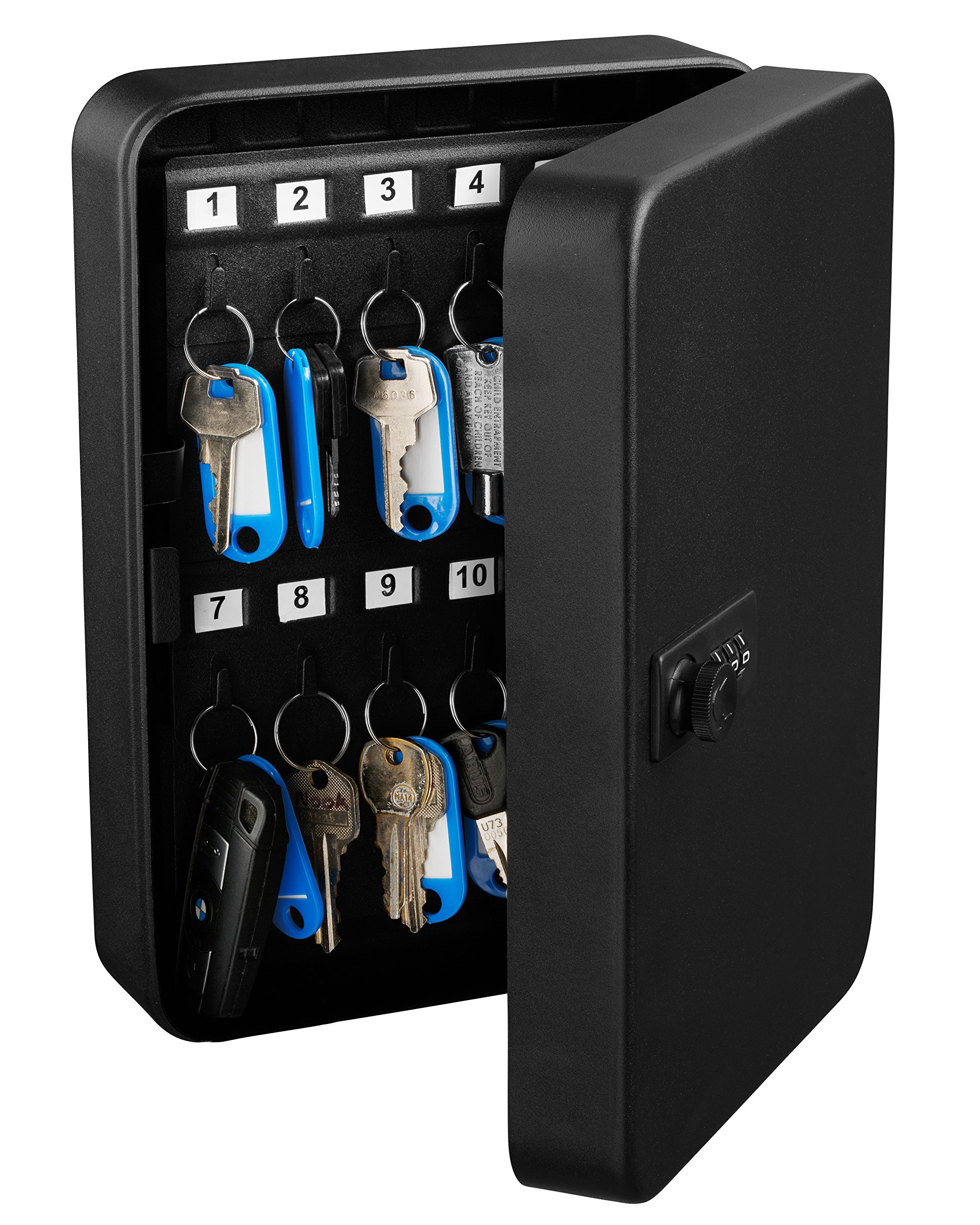 AdirOffice Key Steel Security Cabinet Box (48 Key, Combination Lock)