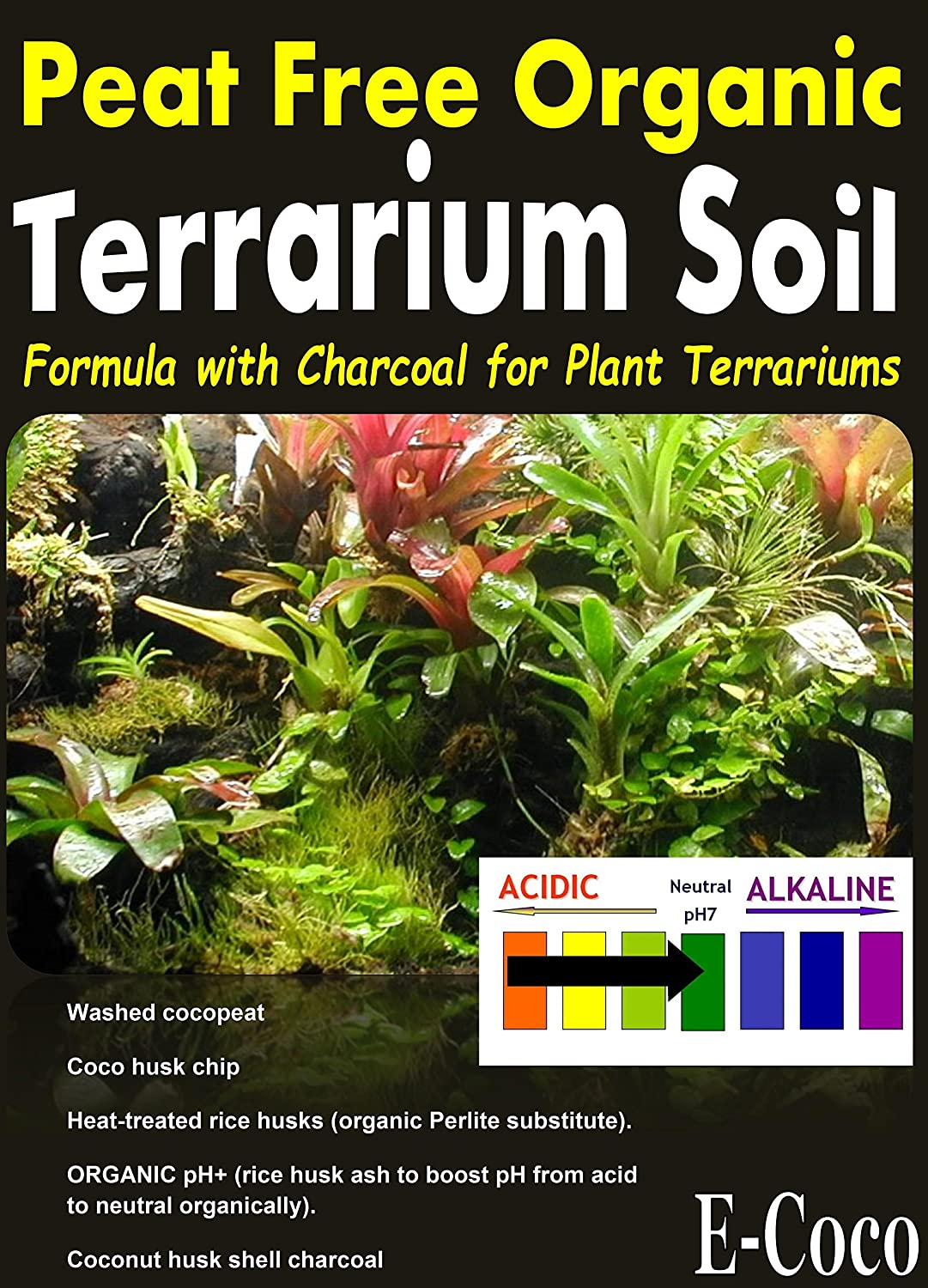 Terrarium Soil With Charcoal For Use In Glass Plastic Plant
