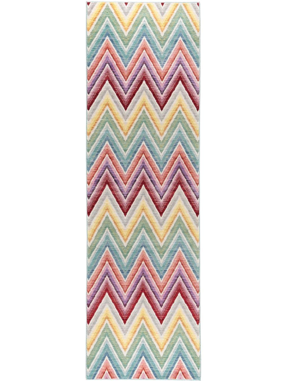 Benuta Teppich Läufer Visconti Multicolor 70x240 cm   Moderner Teppich für Wohn- und Schlafzimmer