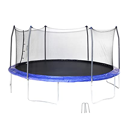 Skywalker SWTC17BWS Oval Trampoline and Enclosure with Wind Stakes (17-Feet) - Amazon.com : Skywalker SWTC17BWS Oval Trampoline And Enclosure With