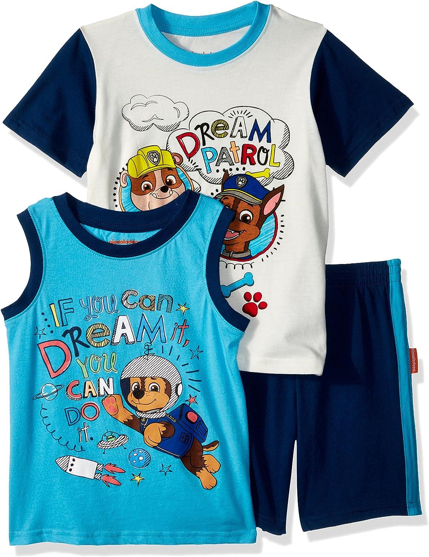 Nickelodeon Boys Paw Patrol 3 Piece Short Set T-Shirt Set