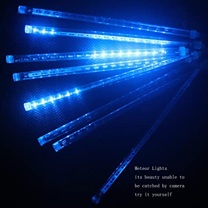 Amazon cdl meteor snow fall shower rain drop waterproof led cdl meteor snow fall shower rain drop waterproof led 30cm50cm8tubes white solutioingenieria Images