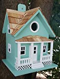 Home Bazaar Hand-made Beachside Cottage Seafoam Blue Bird house - Nature Friendly- Seafoam Blue