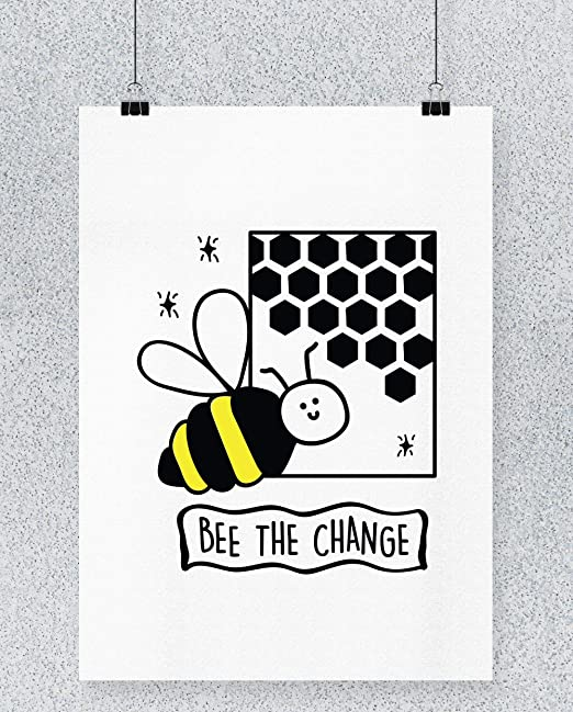 Compra Hippowarehouse Bee The Change Cartel Impreso Pared ...