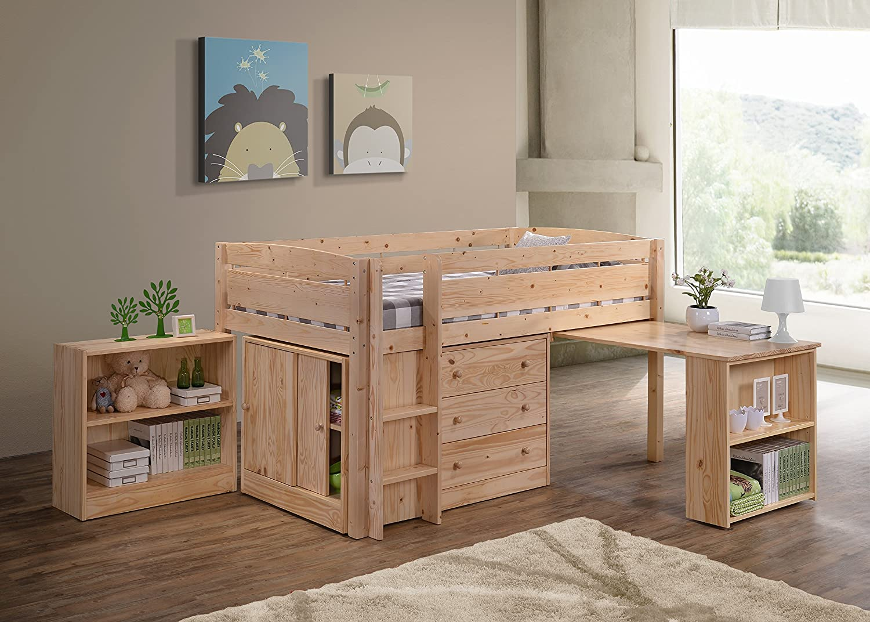 Amazon.com: Canwood Whistler Junior Loft Bed, Natural: Kitchen ...