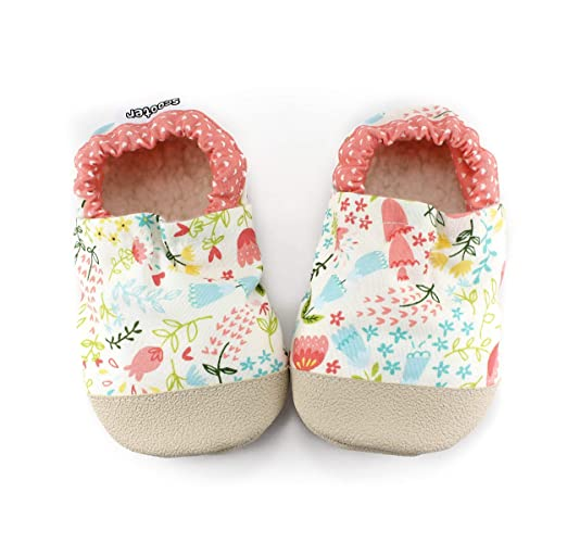 0209dc2add2 Image Unavailable. Image not available for. Color  floral baby shoes