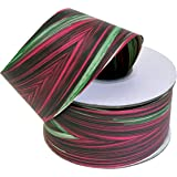 """Variegated Magenta & Green Ribbon - 2"""" x 50 Yards, Holiday Decor, Christmas Garland, Gifts, Floral Arrangement, Gift Bow, Easter, Spring, Birthday, Valentine's Day, St. Patrick's Day, Easter"""