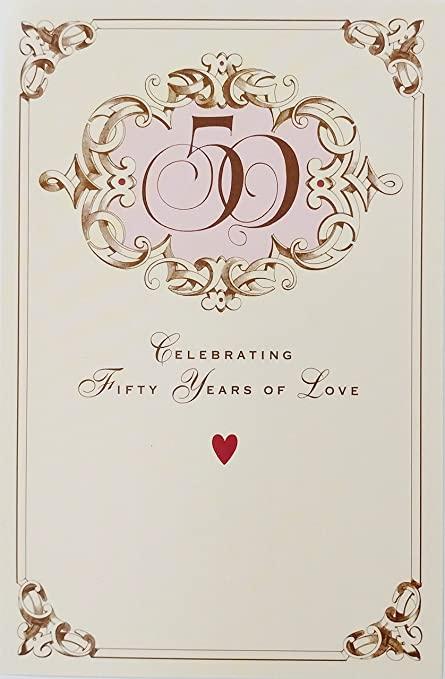 Amazon celebrating fifty years of love happy golden celebrating fifty years of love happy golden anniversary greeting card 50th quotmarriage that you m4hsunfo