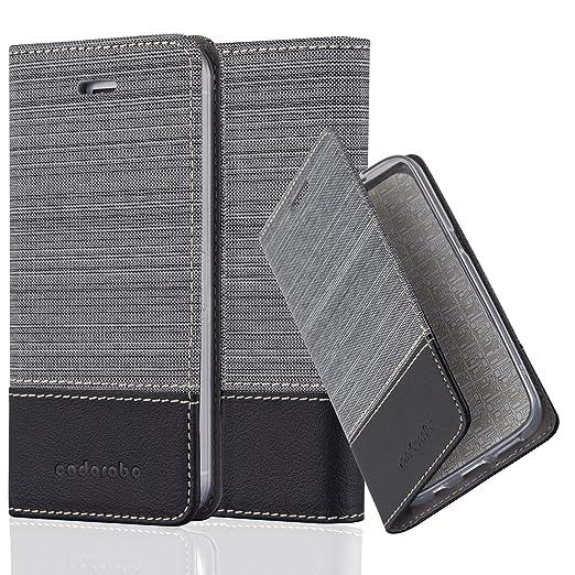 5 opinioni per Cadorabo- Custodia Book Style per Apple iPhone 5 / 5S Design Tessuto- Similpelle