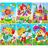 "Sinceroduct Mosaic Stickers Art Kits for Kids - 12 Pack Sparkle DIY Handmade Crafts, 10""x7.3""."