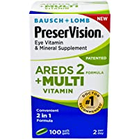 PreserVision AREDS 2 Plus Multivitamin Vitamin and Mineral Supplement, Soft Gels...