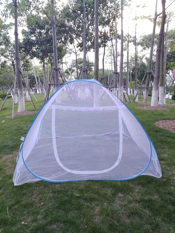 Moustiquaire Lit Auvent Camping Double Portable Voyage Maison Anti Tente Moustique Pliable Pop Up Moustiquaire Pour Roi Lit Filet 150 * 200 * 150cm