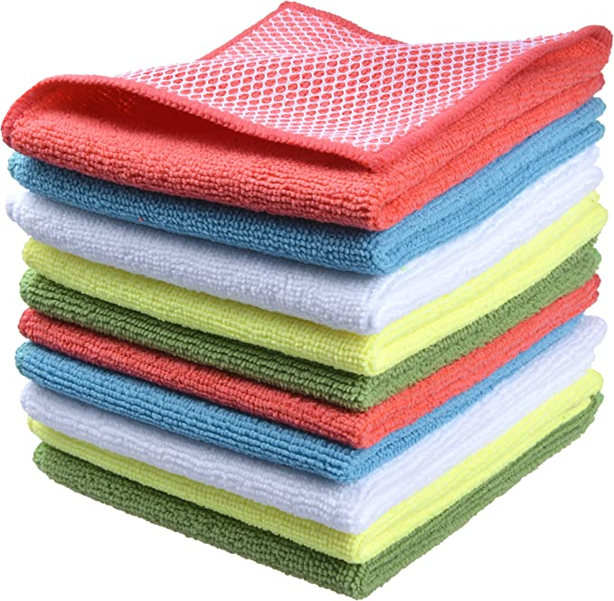 NEW LARGE DISH CLOTHS ABSORBENT /& REUSABLE IDEAL FOR CLEANING /& WASHING DISHES