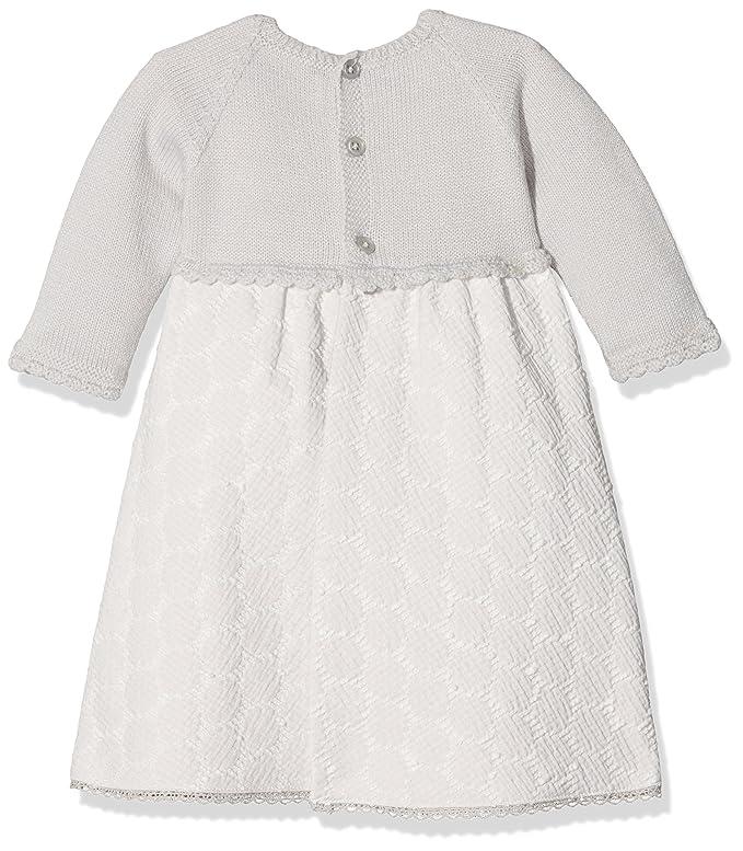 PAZ Rodriguez 008-80772, Vestido para Bebés, Gris (Perla), Recién Nacido (Tamaño del Fabricante:1M): Amazon.es: Ropa y accesorios