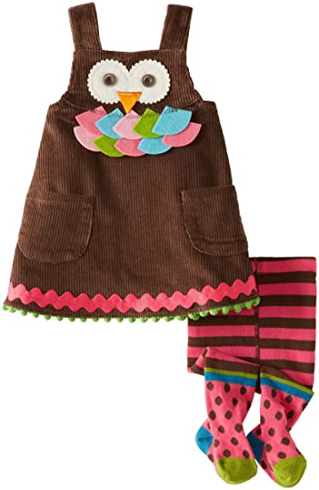 a3d0eceee0f Amazon.com  Mud Pie Baby Girls  Owl Jumper with Tights  Infant And Toddler  Playwear Dresses  Clothing