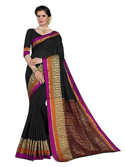 f44ba2a9ed1 Pisara Women Chanderi Silk Saree With Blouse Piece