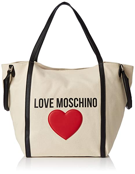 6339603821 Love Moschino Borsa Canvas E Pebble Pu, Mano Donna, (Nero), 20x32x46 ...