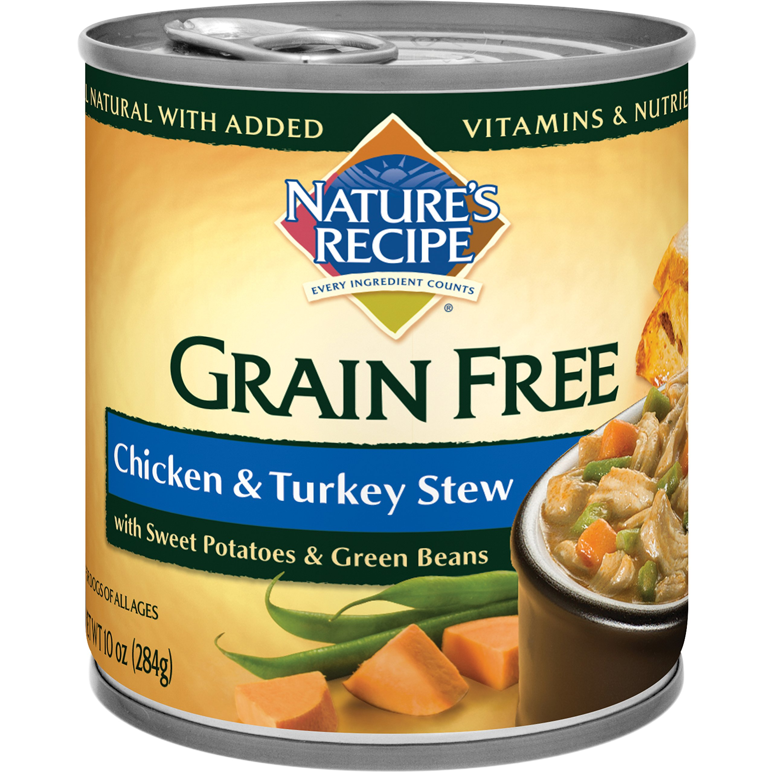 Nature's Recipe Grain Free Wet Dog Food, Chicken & Turkey Stew, 10-Ounce Cans (Pack of 24) by Nature's Recipe
