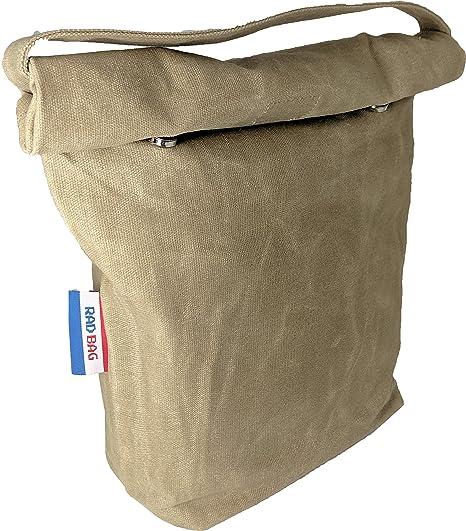Amazon.com: Bolsa de lona encerada para el almuerzo (caja de ...