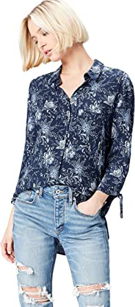 Marca Amazon - find. Camisa con Estampado de Flores para Mujer
