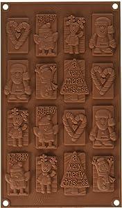 Silikomart Silicone Easy Chocolate Mold, Christmas Tags