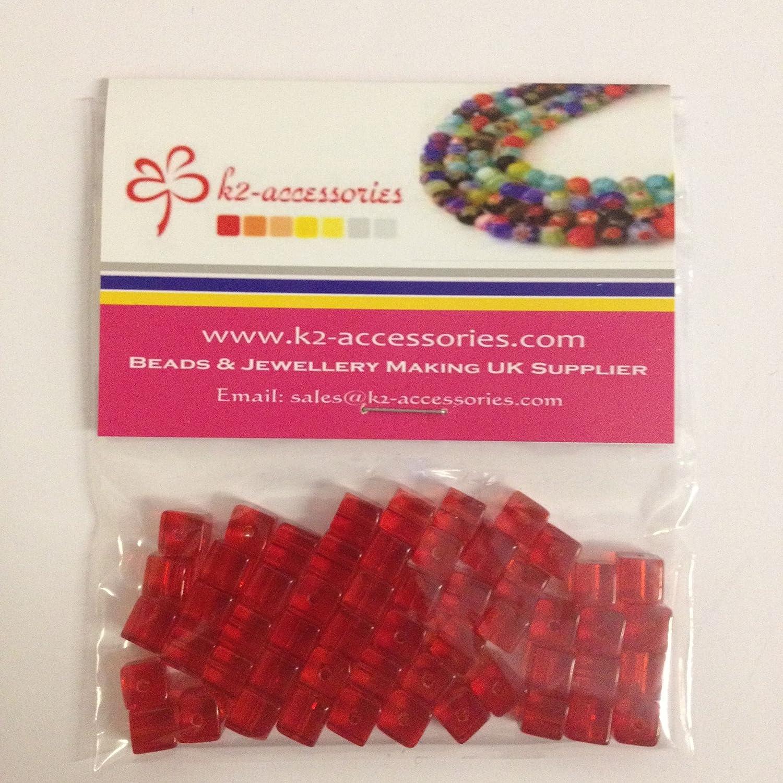 100/pi/èces 4/mm attach/é Cube Style valeur Cristal Perles de verre/ /Rouge vif/ /A3007