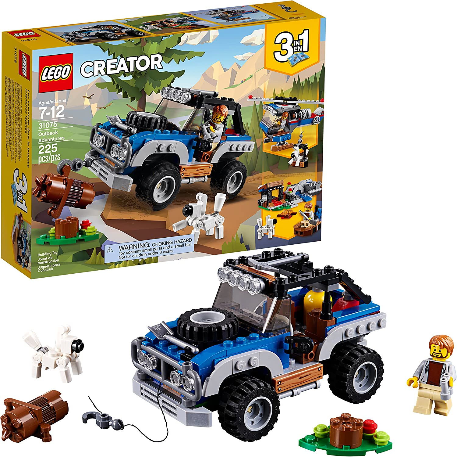 LEGO Creator 3in1 Outback Adventures 31075 Building Kit (225 Piece)