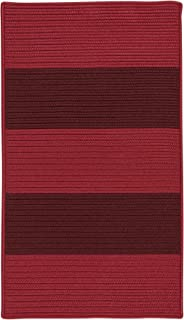 product image for Colonial Mills Newport Textured Stripe Braided Rug, 8' x 11' , Reds