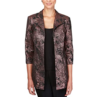 92cab7b8583 Amazon.com  Alex Evenings Women s Plus Size Jacket and Scoop Tank ...