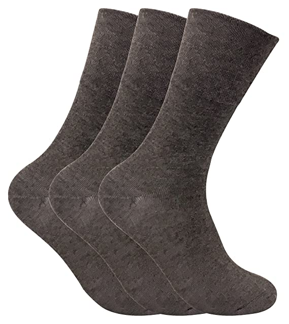 Juego de 3 pares de calcetines térmicos, no elásticos, para diabéticos Beige THRDIAM02 39-46: Amazon.es: Ropa y accesorios