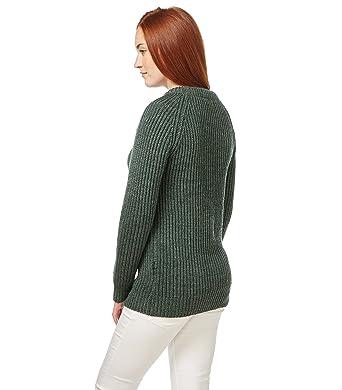 WoolOvers Rippstrickpullover, Damen (Schurwolle) F31