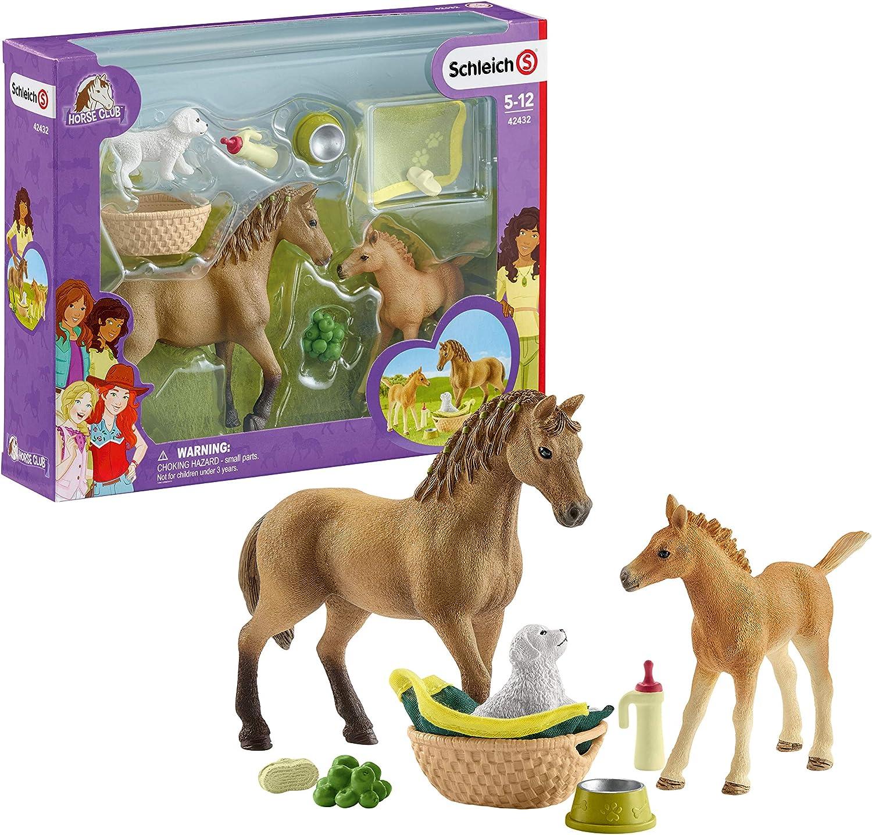 Schleich-42432 Set De Cuidado De Crías De Horse Club Sarah (42432)